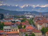 Ljubjiana, Slovenia Photographic Print by Walter Bibikow