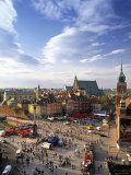 Plac Zamkovy, Warsaw, Poland Photographic Print by Walter Bibikow