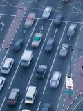 Traffic Along Baniyas Road, Deira, Dubai, United Arab Emirates Photographic Print by Walter Bibikow