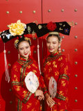 Women Dressed in Traditional Costume, Beijing, China Photographic Print by Steve Vidler