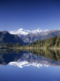 Lake Matheson and Mt.Cook, South Island, New Zealand Photographic Print by Steve Vidler