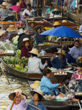 Floating Market, Damnoen Saduak, Thailand Photographic Print by Alan Copson