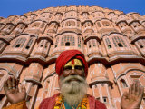 Palace of the Winds, Holyman, Jaipur, Rajasthan, India Photographic Print by Steve Vidler