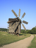 Wooden Windmill, Pirogovo, Near Kiev, Ukraine Photographic Print by Ivan Vdovin