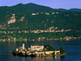 Lake Orta and San Giulio Island, Orta San Giulio, Italian Lakes, Piedmont, Italy Photographic Print by Steve Vidler