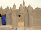 Mosque at Sennissa, Nr Djenne, Mali Photographic Print by Peter Adams