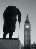 Parliament and Churchill statue, London, England Photographic Print by Jon Arnold