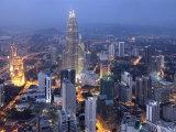Petronas Twin Towers from Kl Tower, Kuala Lumpur, Malaysia Photographic Print by Demetrio Carrasco