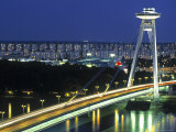 Novy Most, Bratislava, Slovakia Photographic Print by Walter Bibikow