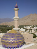 Nizwa Mosque, Western Hajar Mountains, Oman Photographic Print by Walter Bibikow