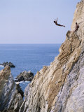 La Quebrada, Cliff Diver, Acapulco, Mexico Photographic Print by Steve Vidler