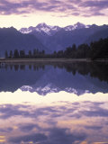 Lake Matheson, Mt. Cook, New Zealand Photographic Print by Peter Adams