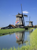 Windmills near Amsterdam, Holland Photographic Print by Gavin Hellier