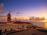 Lighthouse at Cabo de Sao Vincente, Sagres, Algarve, Portugal Photographic Print by Walter Bibikow