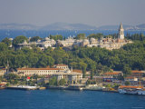 Topkapi Palace and Bosphorus from Galata Tower, Istanbul, Turkey Photographic Print by Michele Falzone