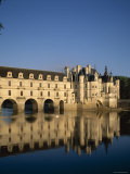 Chenonceau Castle and Cher River, Chenonceau, Loire Valley, France Photographic Print by Steve Vidler