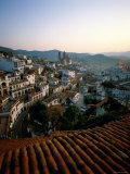 City Skyline and Rooftops, Taxco, Mexico Photographic Print by Steve Vidler