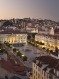 Praca Do Pedro Iv Square, Lisbon, Portugal Photographic Print by Demetrio Carrasco