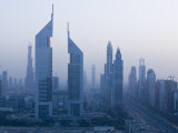 Emirates Towers, Sheik Zayed Road Area, Dubai, United Arab Emirates Photographic Print by Walter Bibikow