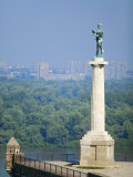 Statue of Pobednik, Kalemegdan, Belgrade, Serbia Photographic Print by Russell Young