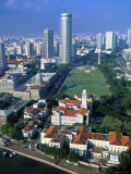 Aerial View over Central Singapore Photographic Print by Hanan Isachar
