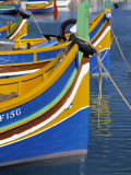Fishing Boats, Marsaxlokk, Malta Photographic Print by Rex Butcher