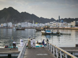Oman, Muscat, Mutrah, Morning at the Mutrah Fish Market Photographic Print by Walter Bibikow