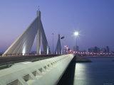 Sheikh Isa Causeway Bridge, Manama, Bahrain Photographic Print by Walter Bibikow