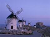 La Mancha, Windmills, Consuegra, Castilla-La Mancha, Spain, Photographic Print