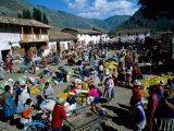 Pisac Market, Pisac, Peru Photographic Print by Steve Vidler
