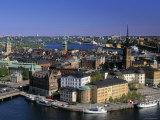 Riddarholmen, Stockholm, Sweden Fotografisk tryk af Walter Bibikow
