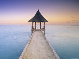 Pier, Maldives, Indian Ocean Photographic Print by Peter Adams