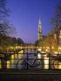 Prinsengracht and Wsterkerk, Amsterdam, Holland Photographic Print by Jon Arnold