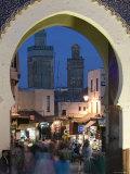 Bab Bou Jeloud Gate, Fes El-Bali, Fes, Morocco Photographic Print by Walter Bibikow