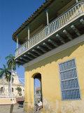 Street Scene, Colonial Balconies, Trinidad, Cuba Photographic Print by Steve Vidler