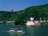 Pfalz Castle and Rhine River, Kaub, Rhineland, Rhine Valley, Germany Photographic Print by Steve Vidler