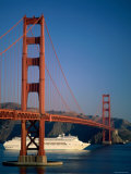 Golden Gate Bridge and Cruise Ship, San Francisco, California, USA Photographic Print by Steve Vidler