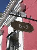 Bed and Breakfast Sign, Old Mazatlan, Mazatlan, Sinaloa State, Mexico Photographic Print by Walter Bibikow