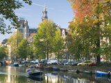 Canal in Amsterdam, Holland Photographic Print by Peter Adams