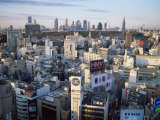 Shibuya Area Skyline with Shinjuku in the Background, Japan, Tokyo Photographic Print by Steve Vidler