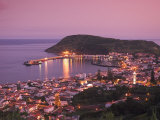Harbour and Town of Horta, Faial Island, Azores, Portugal Photographic Print by Alan Copson