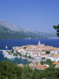 Korcula Island, Town Skyline and Coastline, Korcula, Adriactic Islands, Croatia Photographic Print by Steve Vidler