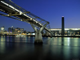 Millennium Bridge and Tate Modern, London, England Photographic Print by Alan Copson