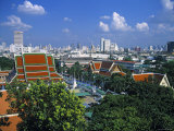 Wat Saket from Golden Mount, Bangkok, Thailand Photographic Print by Alan Copson