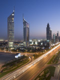 Sheikh Zayad Road and the Emirates Towers, Dubai, United Arab Emirates Photographic Print by Gavin Hellier