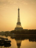 Eiffel Tower and the Seine River at Dawn, Paris, France Photographic Print by Steve Vidler