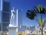 Raffles Statue, Commercial District, Singapore Fotodruck von Peter Adams