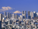 Mt.Fuji and Tokyo Shinjuku Area Skyline, Tokyo, Japan Photographic Print by Steve Vidler