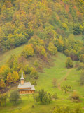 Traditional Wooden Church, Maramures, Romania Photographic Print by Russell Young