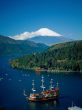 Mount Fuji and Lake Ashi, Hakone, Honshu, Japan Photographic Print by Steve Vidler